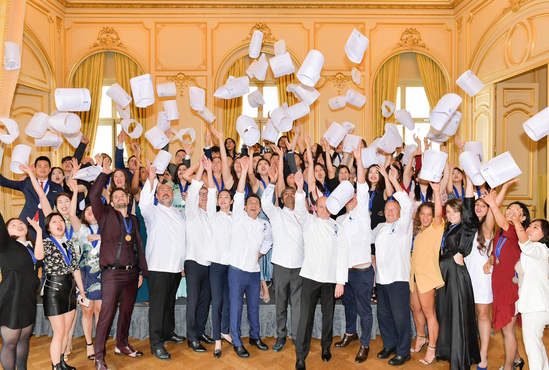 students graduation le cordon bleu paris