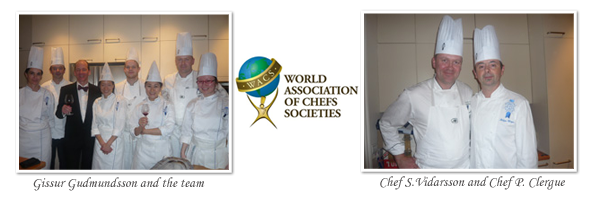 Gissur Gudmundsson and the team from Le Cordon Bleu Paris