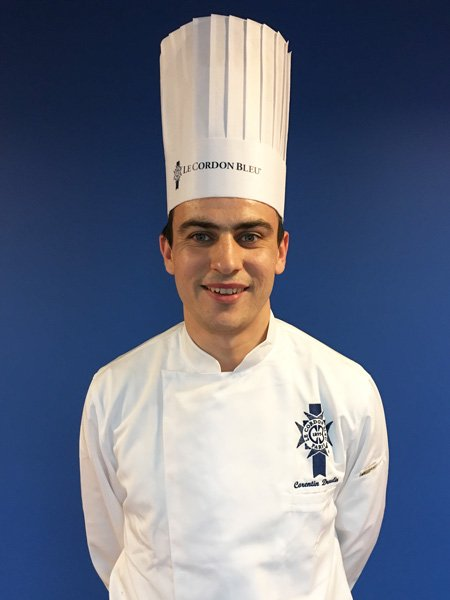 Chef Corentin Droulin, pastry chef instructor