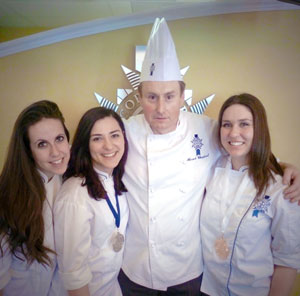 Jocelyn (Bronze), Daneet, Chef Chabert, and Lisa Anne(Silver)