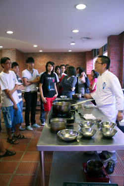 Kenneth at cooking demonstration